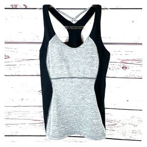 LUCY TOPS | Heather Gray Black Stretchy Bra Top
